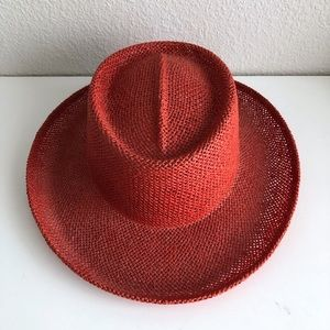 Something Special Women's Straw Derby Hat Red Structured Classy Chic
